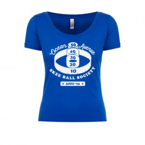 Ocean Ave Skee Ball Society Ladies Scoop Tee