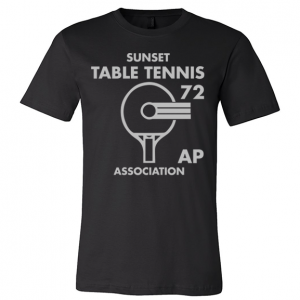 Sunset Table Tennis Association Tee