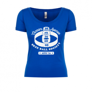 Ocean Ave Skee Ball Society Ladies Scoop Tee